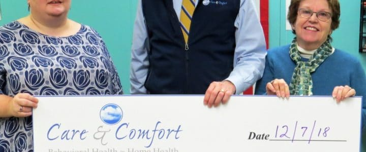Care & Comfort and their Staff Support the Humane Society of Waterville