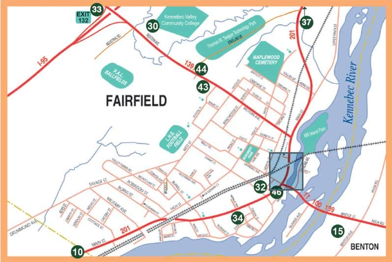 Fairfield, Maine Map