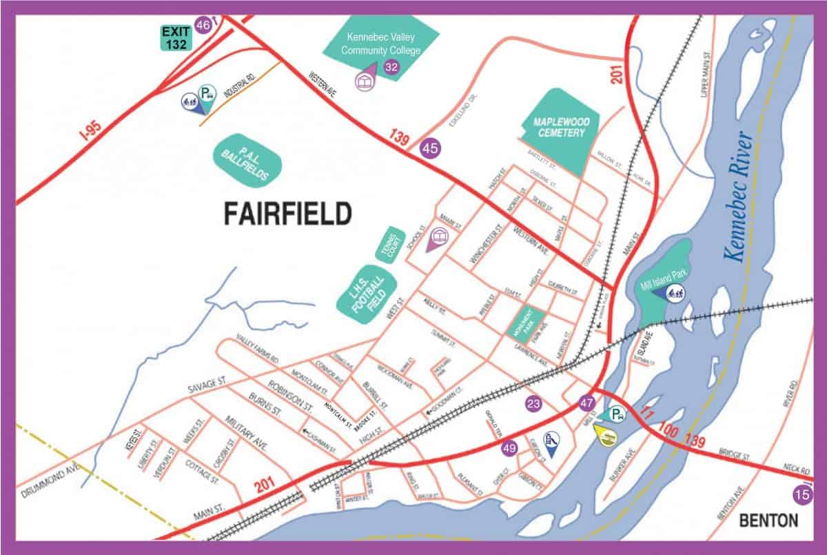 Fairfield, Maine Map